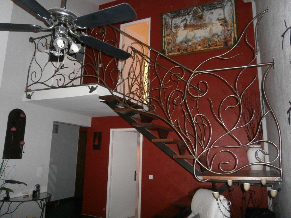 rampe fer et pierre ferronnerie d 39 art carreaux de ciment. Black Bedroom Furniture Sets. Home Design Ideas