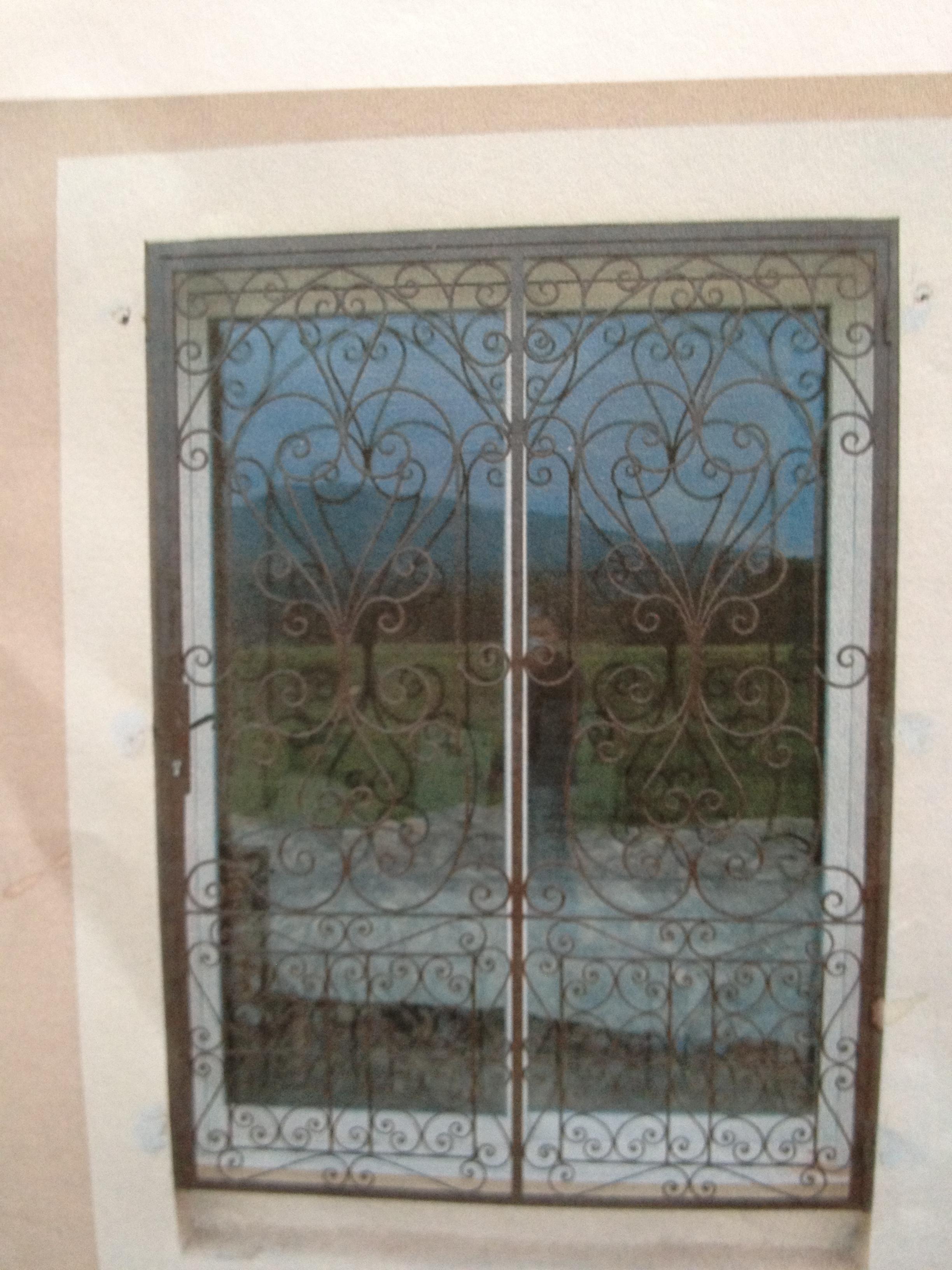 grille porte fer et pierre ferronnerie d 39 art. Black Bedroom Furniture Sets. Home Design Ideas