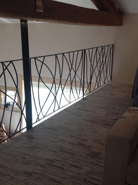 garde corps fer et pierre ferronnerie d 39 art carreaux de ciment. Black Bedroom Furniture Sets. Home Design Ideas